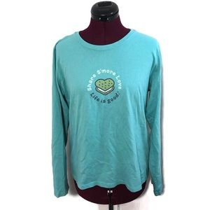 Life is Good Long Sleeve Relaxed Fit T-shirt